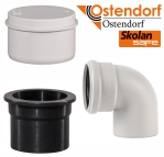 Трубы и фитинги для бесшумной канализации Ostendorf Skolan Safe