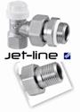 Угловой отсеченный клапан Jet-Line