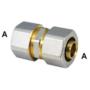Прямой обжимной фитинг промежуточный для металлопластиковых труб