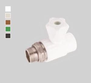 Кран шаровый для радиаторов прямой Plastherm