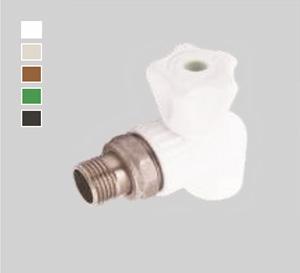 Кран шаровый для радиаторов угловой Plastherm