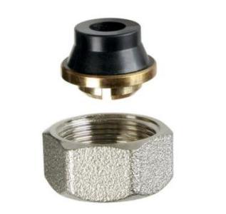 Фитинг для медных, латунных и стальных труб 1/2х15 с нитриловой  прокладкой, из латуни