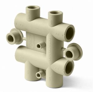 PP-R Распределительный блок для систем отопления и водоснабжения 25-20