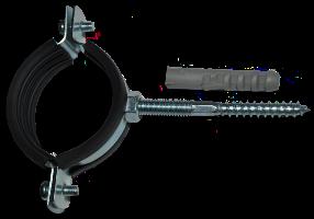 Хомут сантехнический 1 (31-35) (шпилька + дюбель)