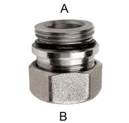 Фитинг ВН 1/2 для стальных и медных труб 15мм, с нитриловой прокладкой, из латуни RBM