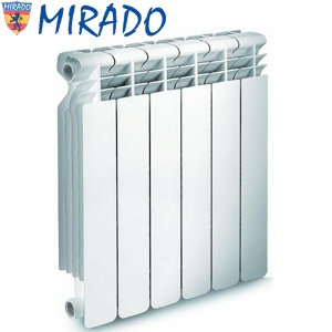 Алюминиевые радиаторы отопленая MIRADO (Украина)