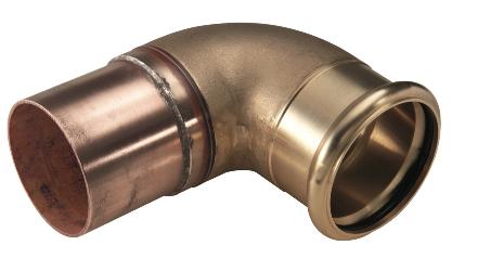 P 4092: отвод однораструбный 90, от 64 до 108мм