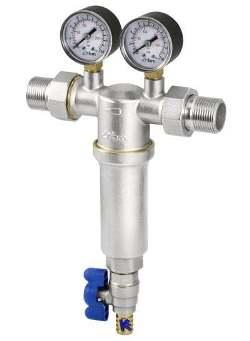 Фильтр самоочищающийся 100 мкм с двумя манометрами RBM (Италия)