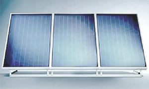 Монтаж солнечного коллектора на плоской крыше