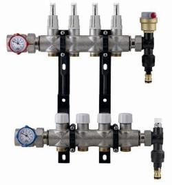 Коллектор в сборе с расходомерами для теплого пола RBM